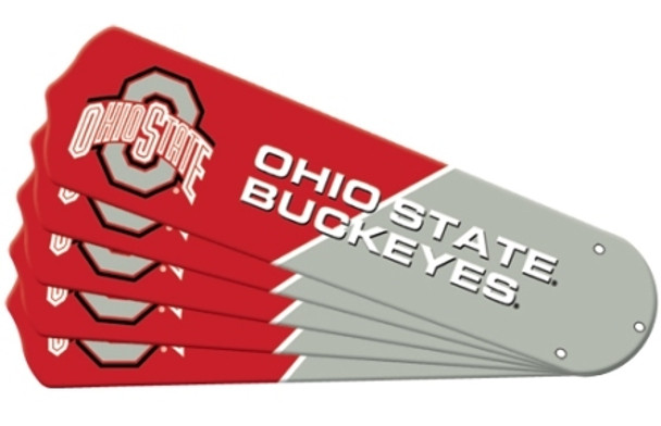 "NCAA Ohio State Buckeyes Ceiling Fan Blades For 52"" Fans"