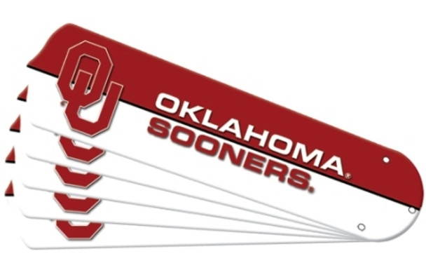 """NCAA Oklahoma Sooners Ceiling Fan Blades For 52"""" Fans"""