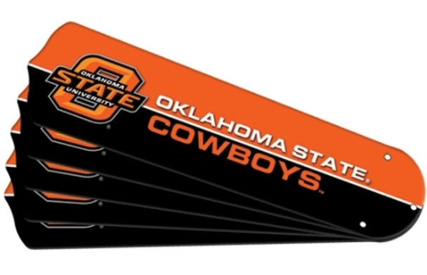 "NCAA Oklahoma State Cowboys Ceiling Fan Blades For 52"" Fans"