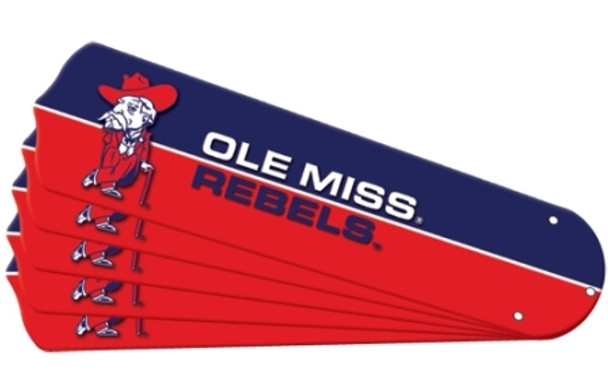 "NCAA Ole Mississippi Rebels Ceiling Fan Blades For 42"" Fans"