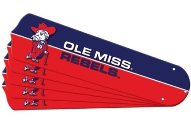 "NCAA Ole Mississippi Rebels Ceiling Fan Blades For 42"" Fans"
