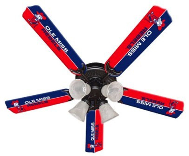 "NCAA Ole Mississippi Rebels 52"" Ceiling Fan"