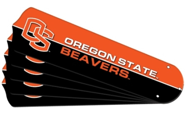 "NCAA Oregon State Beavers Ceiling Fan Blades For 52"" Fans"