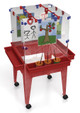 """Childbrite Youth 4 Station Space Saver Easel w/9"""" deep clear tub"""