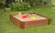 """Composite Sandbox Kit Square 4x4ft 2 Level /w Collapsible Cover, 2"""" Profile 1"""