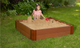 """Composite Sandbox Kit Square 4x4ft 2 Level /w Collapsible Cover, 2"""" Profile 2"""