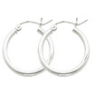 Designs by Nathan 925 Sterling Silver 2mm Wide Tube Hoop Earrings:  Lightweight, Classic, Seamless