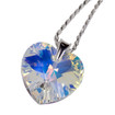Designs by Nathan Shimmering Xilion Heart Pendant Necklace Handcrafted with Swarovski Crystals and 925 Sterling Silver