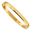 Designs by Nathan 6mm Wide 14K Gold Polished Half-Round Bangle Bracelet