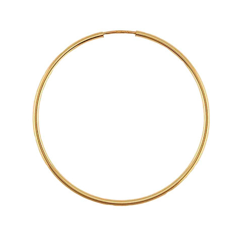 Designs by Nathan 1.3mm Slender Seamless Endless Hoops in 14k Yellow Filled or Rose Filled Gold