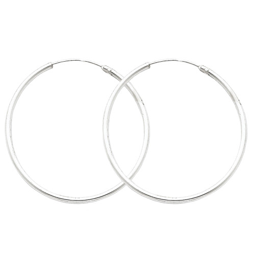 Designs by Nathan 1.3mm Slender Seamless Endless Hoops in 925 Sterling Silver