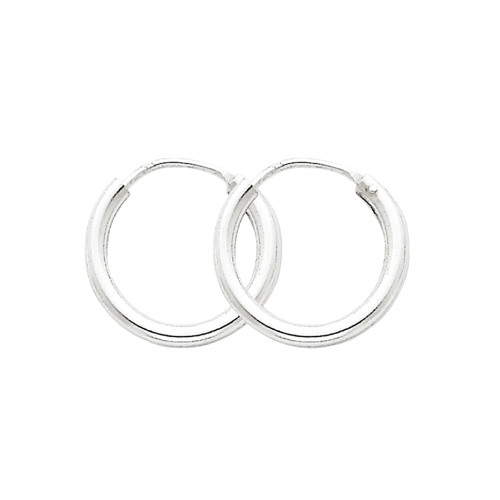 Designs By Nathan 2mm Seamless Endless Hoops In 925 Sterling Silver