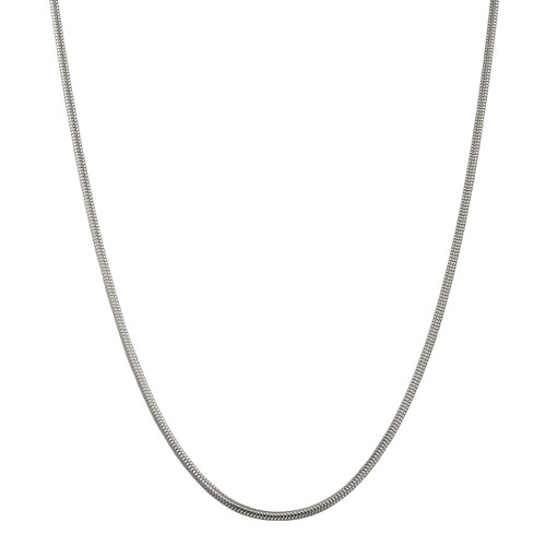 Designs by Nathan 2.5mm Wide Round Snake Chain Necklace in 925 Sterling Silver