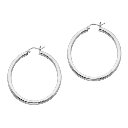 Designs by Nathan 925 Sterling Silver 3mm Seamless Classic Hoops