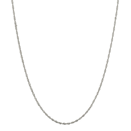 Designs by Nathan 2mm Wide Singapore Chain Necklace in 925 Silver & 14K Gold