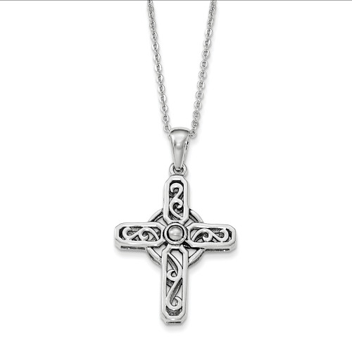 Designs by Nathan Sterling Silver Celtic Prayer Cross Necklace