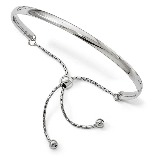 BLUE Leslie's Leslie's Sterling Silver Polished Adjustable Bangle