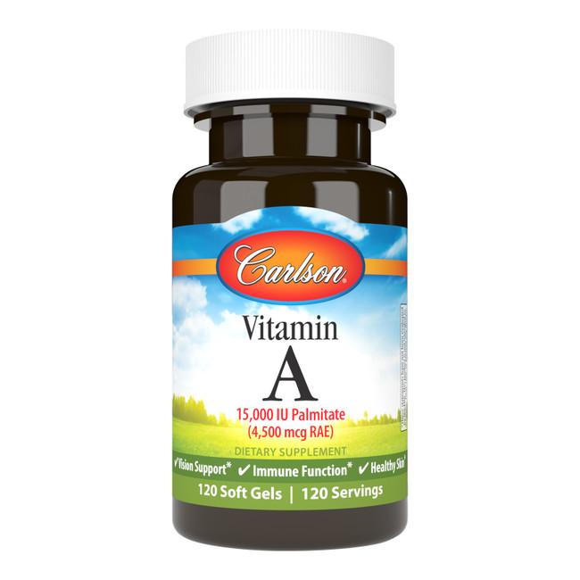Vitamin A Palmitate 15,000 IU (4,500 mcg RAE) promotes healthy vision. Vitamin A also promotes skin, bone, and immune system health.