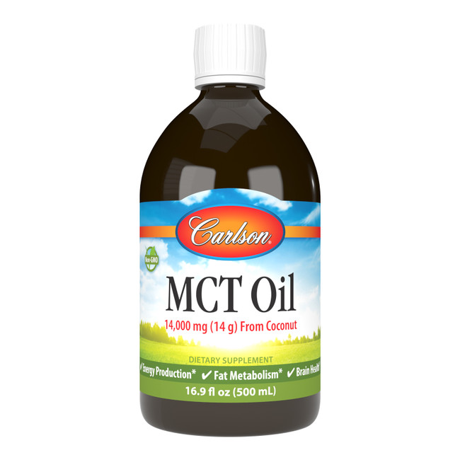 Re-awaken your energy with Carlson MCT Oil. Add MCT Oil to a smoothie, coffee, or oatmeal – or take it directly from a spoon.