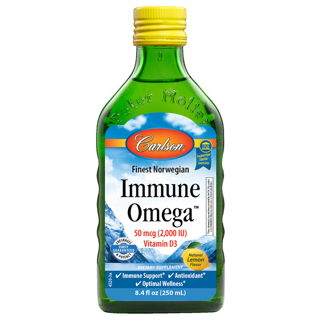 Immune Omega™ provides the antioxidant blend of 2,000 IU (50 mcg) of vitamin D3 and omega-3s.