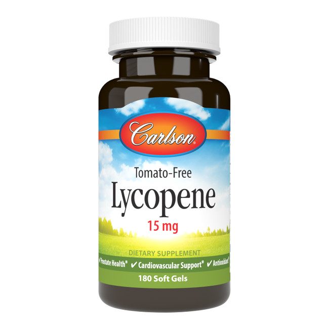 Lycopene is a red carotenoid that promotes prostate health, supports healthy cardiovascular function, and helps protect against free radical damage.