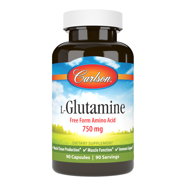 L-Glutamine promotes muscle tissue production and aids in repairing and rebuilding muscle. Each capsule contains 750 mg of L-Glutamine.