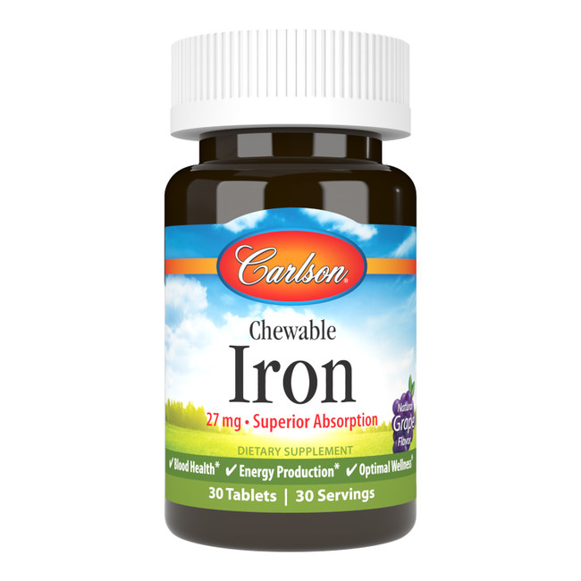 Chewable Iron is a convenient way to get the iron we need to help maintain healthy blood.