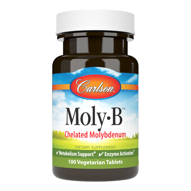 Moly-B tablets provide 500 mcg of molybdenum from 20 mg of molybdenum glycinate.