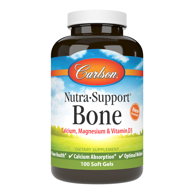 Nutra-Support Bone provides calcium, magnesium, and vitamin D, which are essential for healthy bone growth and density.