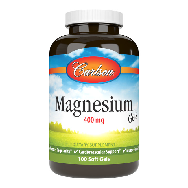 Magnesium Gels provide 400 mg of magnesium per soft gel, which supports healthy blood vessels and promotes healthy muscle function.