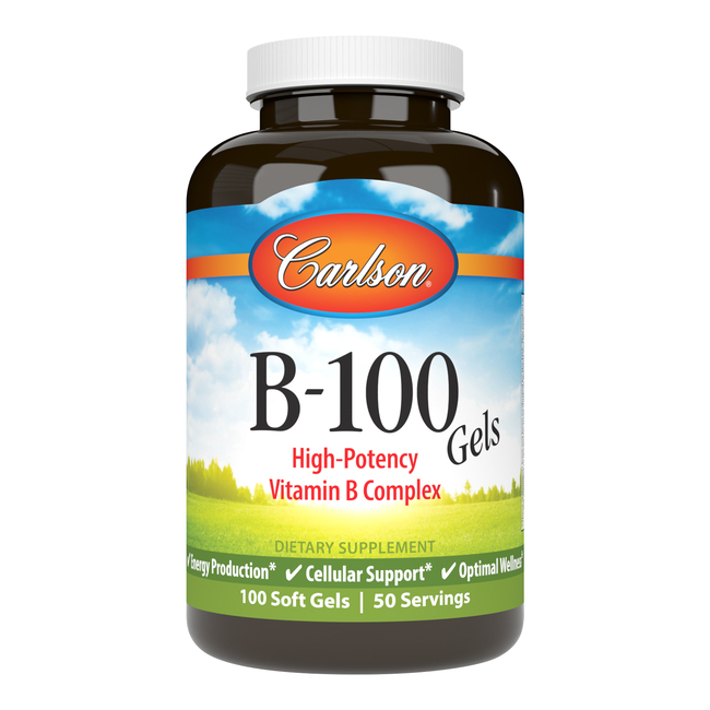 B-100 Gels provide important B-complex vitamins, which are essential for converting the fats, proteins, and carbohydrates from the food we eat into energy.