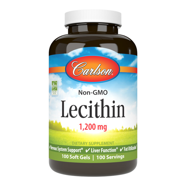 Lecithin, derived from soybeans, is a natural source of choline, inositol, and phospholipids for healthy nervous system/liver function, and fat utilization.