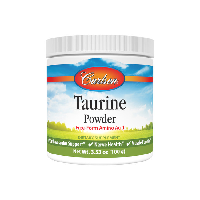 Taurine is an essential amino acid that supports cardiovascular health, promotes nerve and muscle function, and helps our body better absorb nutrients.