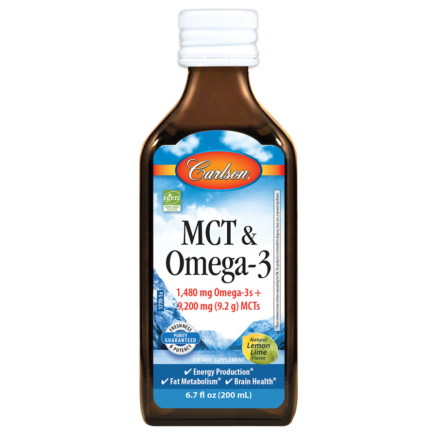 A single tablespoon provides 1,480 mg of omega-3s and 9,200 mg (9.2 g) of MCTs in delicious natural lemon-lime flavor.