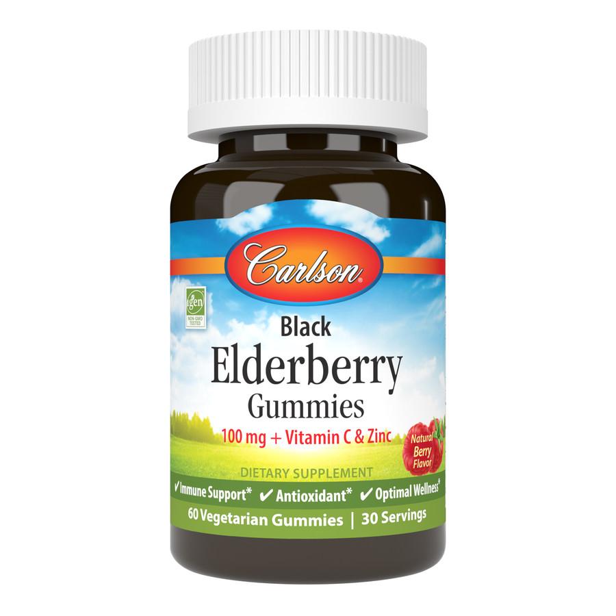 Black Elderberry Gummies provide the powerful antioxidant blend of elderberry, vitamin C, and zinc for immune support.