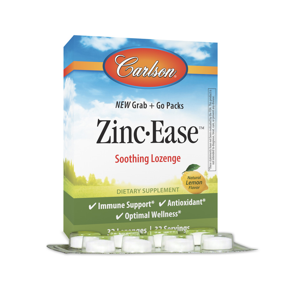 Zinc-Ease Grab + Go Packs provide zinc in convenient packs for on-the-go.