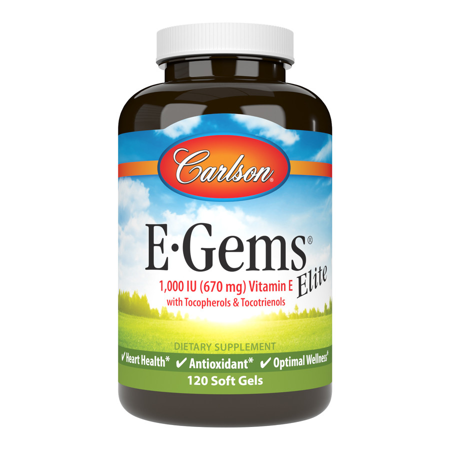 E-Gems® Elite 1,000 IU (670 mg) is an exclusive blend of the entire vitamin E family, including eight forms of tocopherols and tocotrienols.