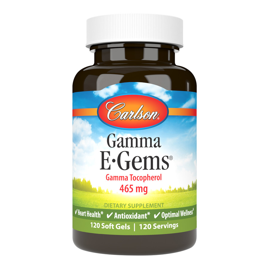 Gamma tocopherol is one of the four vitamin E tocopherols and is a powerful antioxidant. Gamma E-Gems® supplies 465 mg of gamma tocopherol per soft gel.