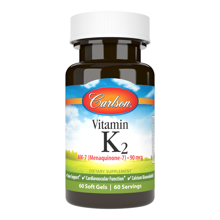 Vitamin K2 also supports cardiovascular system health by promoting healthy blood clotting and directing calcium out of the bloodstream and arteries and into the bones. Build better bones and support optimal wellness with Carlson Vitamin K2 as MK-7.