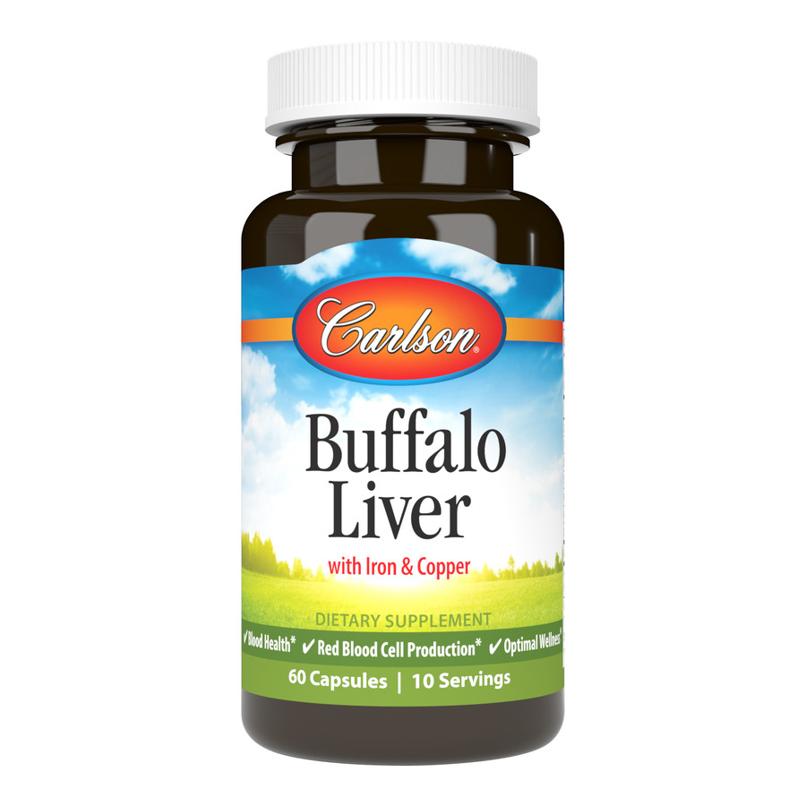 Buffalo Liver is a special formula that provides the rich nutrient blend found in the livers of buffalo, including iron and copper.