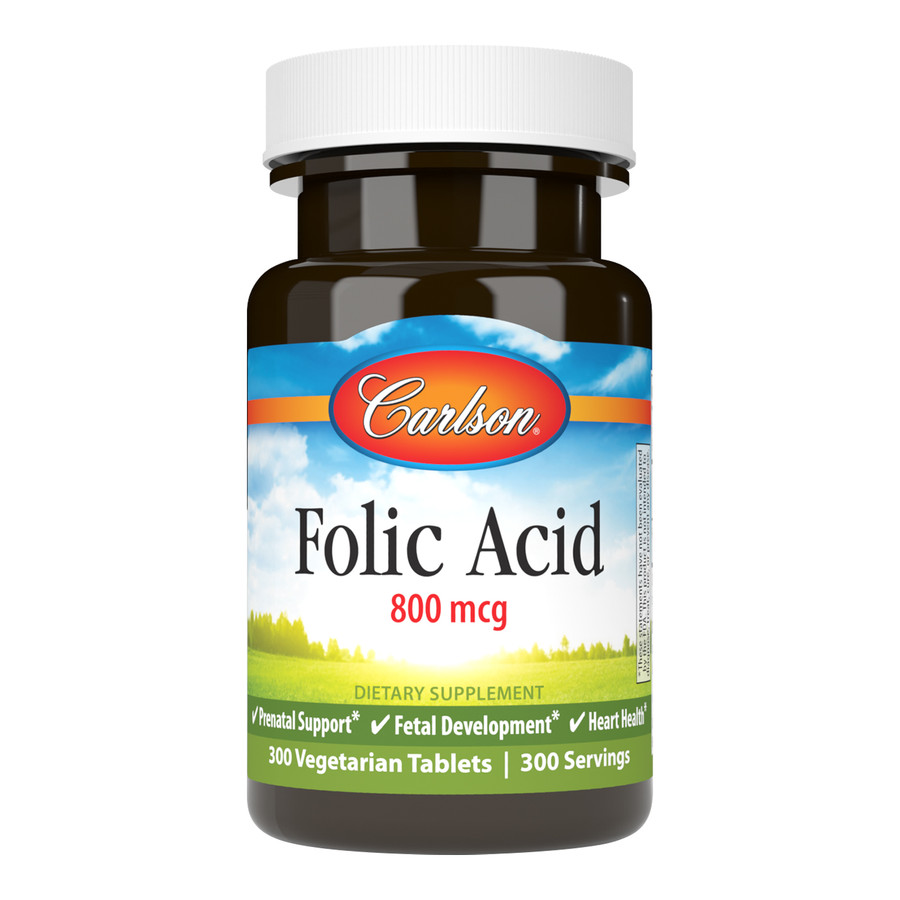 Carlson Folic Acid 800 mcg provides important B vitamins for women who are pregnant or may become pregnant.