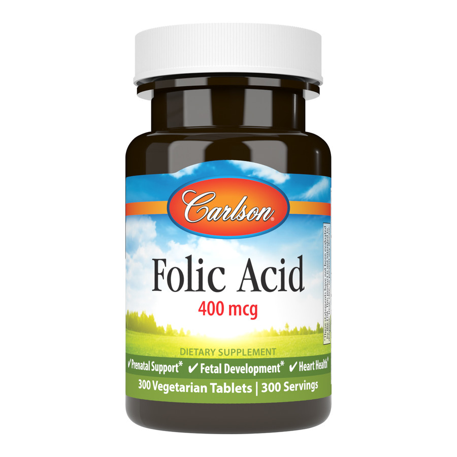 Folic Acid 400 mcg provides important B vitamins for women who are pregnant or may become pregnant. It supports cardiovascular and nervous system health.