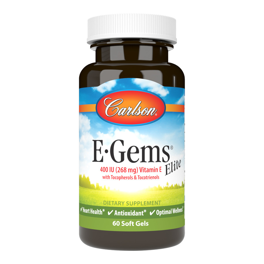 E-Gems® Elite 400 IU (268 mg) is an exclusive blend of the entire vitamin E family, including eight forms of tocopherols and tocotrienols.