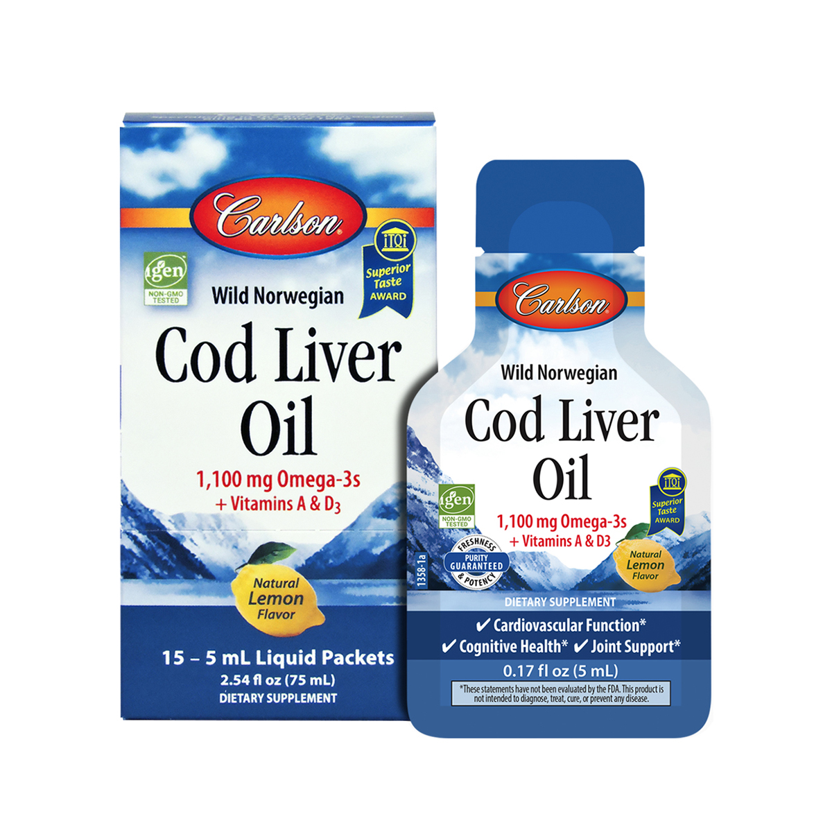 Cod Liver Oil, Box of Packets