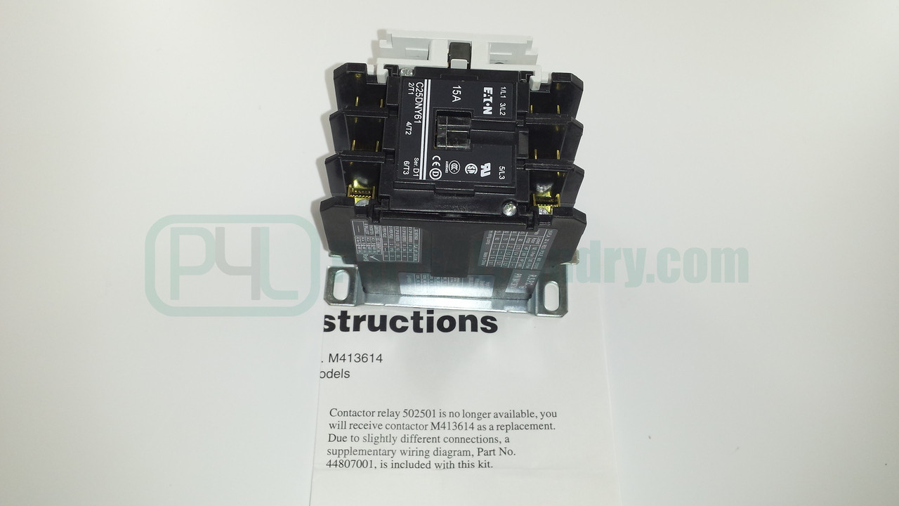 M413614P Dryer Contactor 24V 3 Pole
