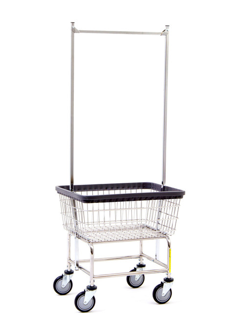 Standard Laundry Cart With Double Pole Rack