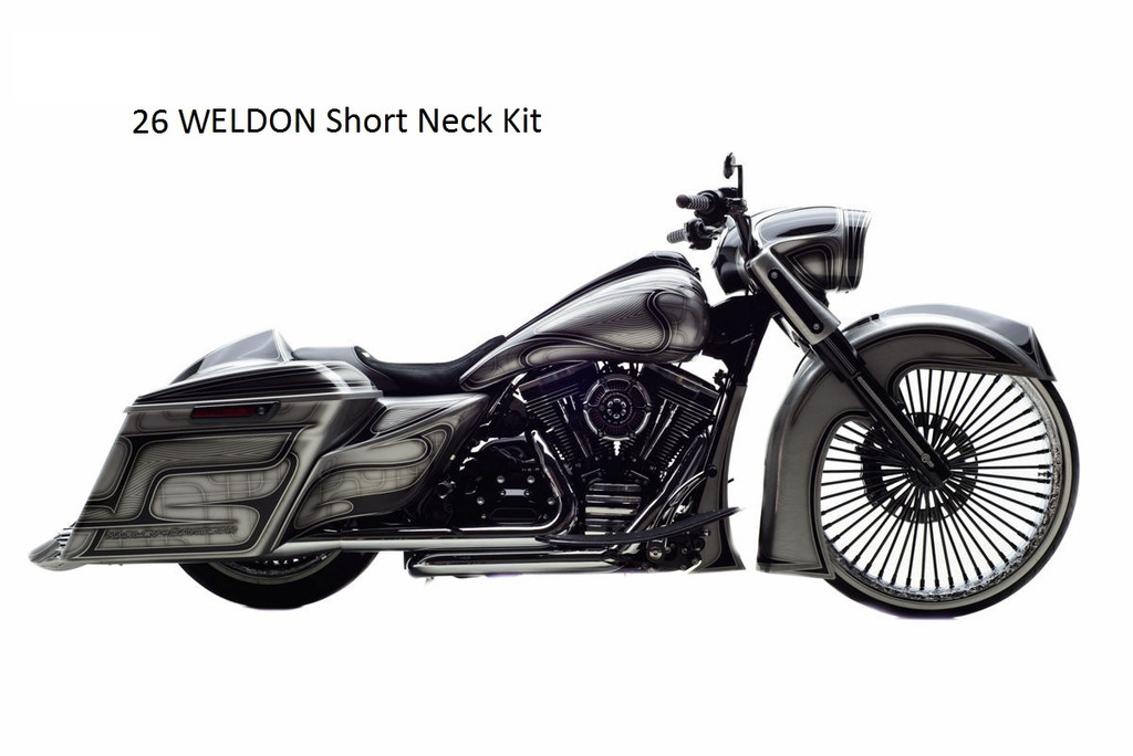 """AS weld in slip fit Neck and Trees, to fit on 1997-2008 26"""" Wheel"""