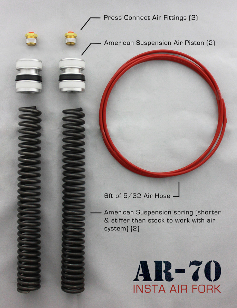 Harley Davidson front air ride with springs 49mm