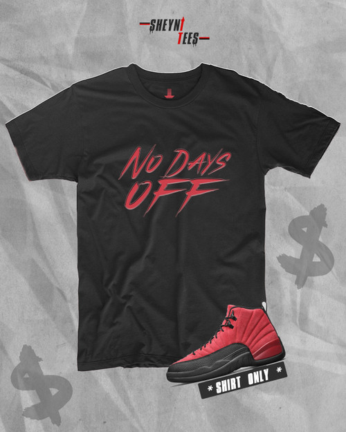 No Days Black Off and Red Tee