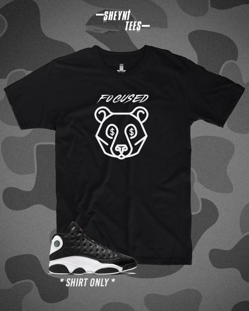Focu$ed Bear Black Tee